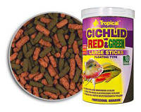 Tropical Cichlid Red & Green Large sticks 1л/0,3кг -  корм для кормления аквариумных рыб