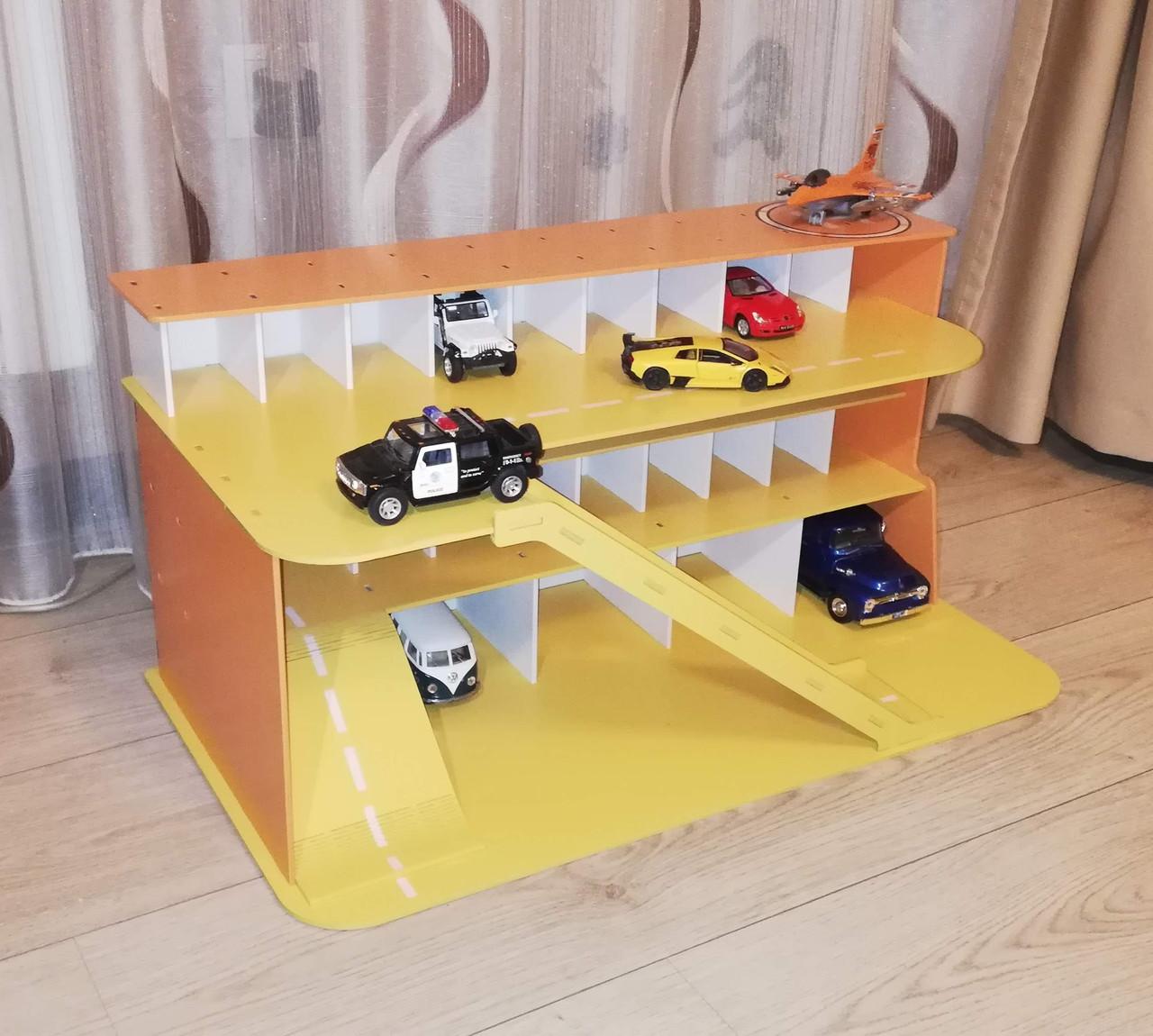 Паркинг из фанеры для игрушечных машинок