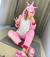 Женские кигуруми розовый единорог пижама krd0014