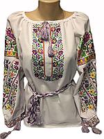 "Жіноча вишита сорочка (блузка) ""Обрі"" (Женская вышитая рубашка (блузка) ""Обри"") BI-0024"