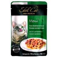 Edel Cat pouch паучи Нежные кусочки в соусе с уткой и кроликом, 100г