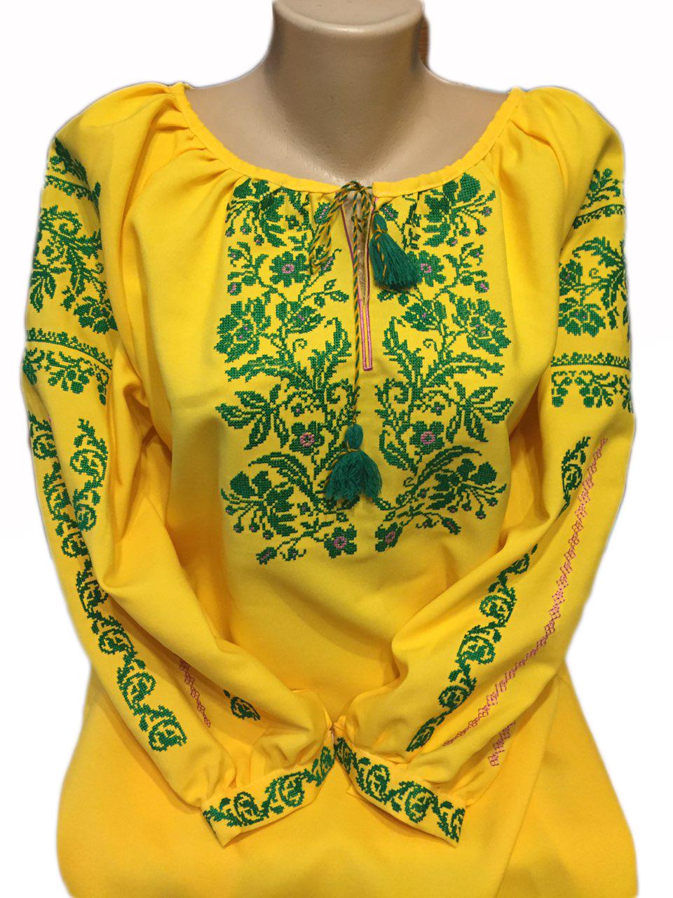 "Жіноча вишита сорочка (блузка) ""Ротлін"" (Женская вышитая рубашка (блузка) ""Ротлин"") BI-0025"