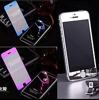 Защитное противоударное зеркальное каленое ультратонкое стекло для Iphone 4, 4S