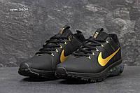 Мужские кроссовки Nike Flywire черно с золотым, фото 1
