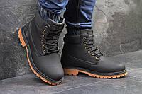 Мужские зимние ботинки Timberland черные,на меху, фото 1