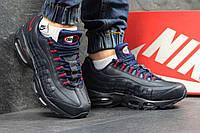 Высокие кроссовки Nike air max 95,темно синий с красным, фото 1