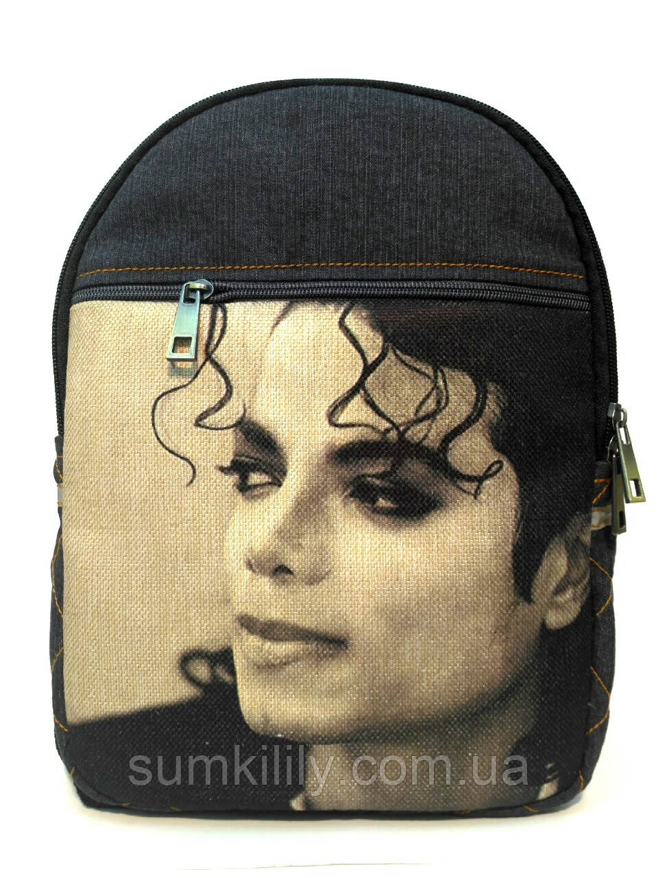 Джинсовый Рюкзак Майкл Джексон 10, фото 1