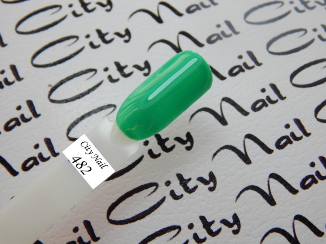 Зелений гель-лак 482 (м'ятний, бірюзовий)