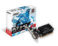 Видеокарта Radeon R7 240, MSI, 2 Гб DDR3, 64-bit, низкопрофильная (R7 240 2GD3 64b LP), відеокарта