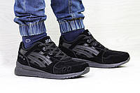 Кроссовки мужские Asics GEL LYTE III замшевые,черные, фото 1