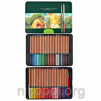 Акварельные карандаши Marco Renoir Aqua-48TN, 48 цветов с кисточкой