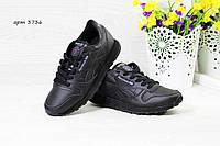 Женские,подростковые кроссовки Reebok, Рибок черные, фото 1
