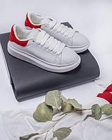 Кроссовки женские белые Alexander McQueen White/Rose весна осень лето