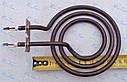 Тэн спиралевидный Ø125мм / 1100 Вт с удлиненным выходом  на планке для китайских и турецких электроплит, фото 2