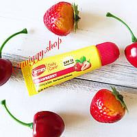 Бальзам для губ увлажняющий в тюбике клубничный (strawberry lip balm SPF15) Carmex
