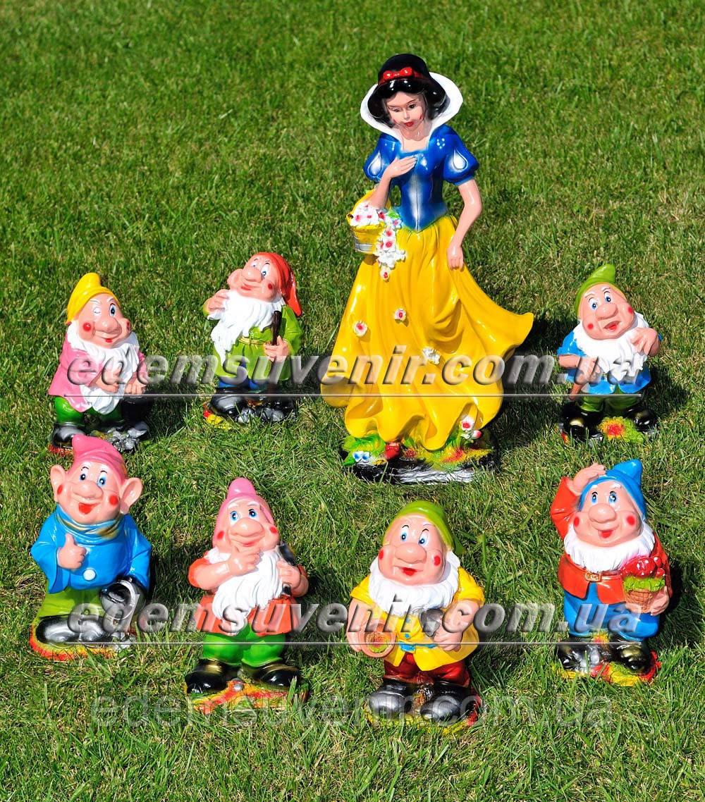 Садовая фигура Белоснежка и семь гномов