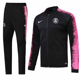 Спортивный костюм ПСЖ на длинной змейке (Тренировочный клубный костюм PSG)