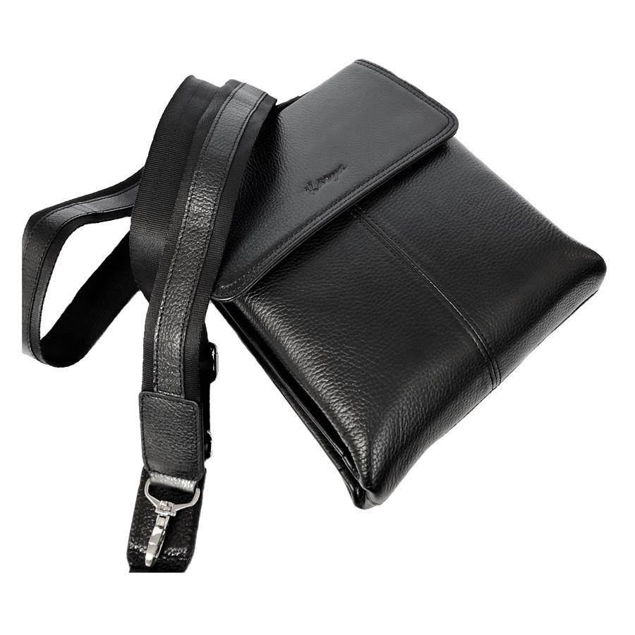 8780ad498775 Мужская сумка через плечо кожаная Karya 0811-45 мессенджер черный, цена 2  785 грн., купить в Киеве — Prom.ua (ID#831843149)