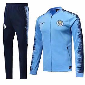 Спортивный костюм Манчестер Сити на длинной змейке (клубный костюм) Финальная Распродажа