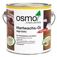 Цветное паркетное масло с твёрдым воском Osmo Hartwachs-Öl Farbig 3075 чёрное 2,5 л