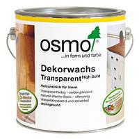 Универсальное цветное масло Osmo Dekorwachs Transparent 3119 шелковисто-серое 2,5 л
