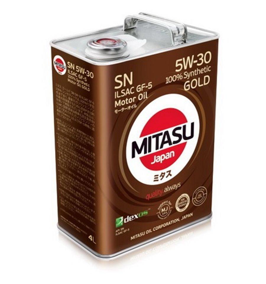Масло моторное синтетическое MITASU GOLD SN 5W-30 4L