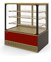 Кондитерская холодильная витрина Veneto VS-1,3 CUBE (0...+7С, стеклопакеты)
