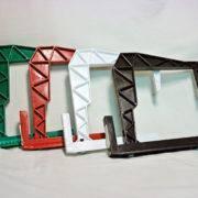 Крепление для балконных ящиков белого,терракотового и зелёного цвета. Выбрать цвет.