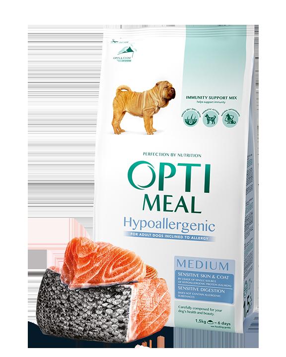 Optimeal Hypoallergenic Medium 12кг  - корм для собак средних пород с лососем