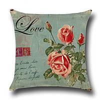 Подушка декоративная Цветок любви 45 х 45 см Berni, фото 1