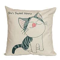 Подушка декоративная Счастливый котенок 45 х 45 см Berni, фото 1