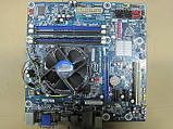 КОМПЛЕКТ на 4 ЯДРА -  НАДЕЖНАЯ ПЛАТА s1156 INTEL DH55TC + Процессор Intel CORE I5-750 ( 4 по 2,7Ghz) LGA 1156, фото 2
