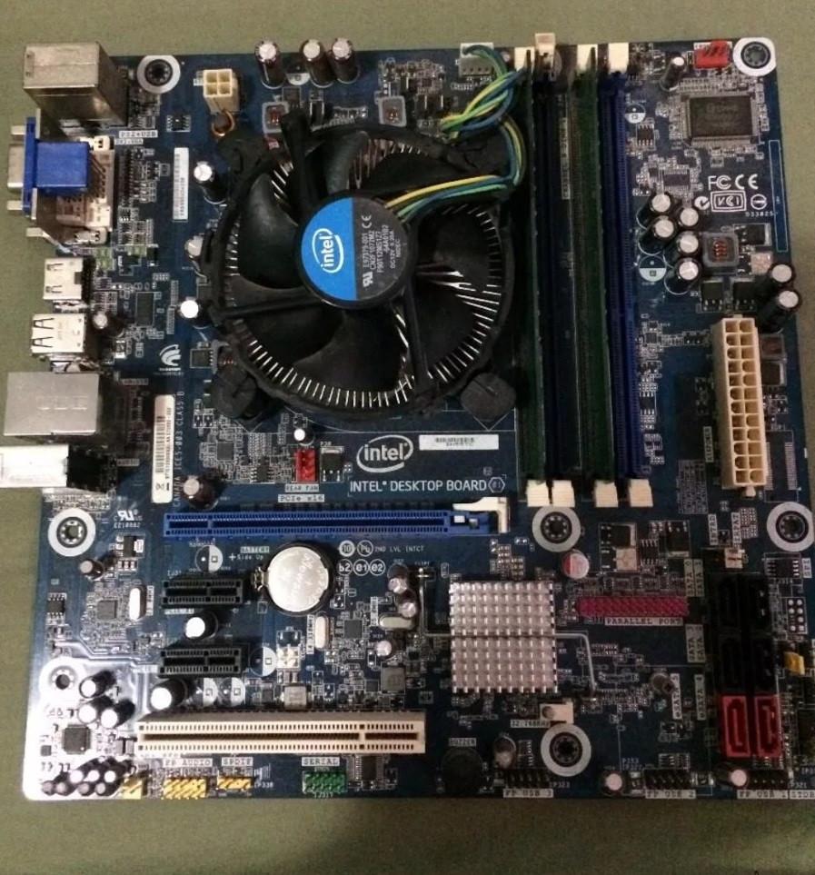 КОМПЛЕКТ на 4 ЯДРА -  НАДЕЖНАЯ ПЛАТА s1156 INTEL DH55TC + Процессор Intel CORE I5-750 ( 4 по 2,7Ghz) LGA 1156