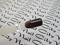 Гель лак CityNail 491 коричневый (темно шоколадный)