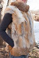 Жилет меховой из рыжей лисы