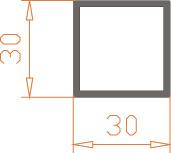 Алюминиевая труба квадратная 30*30*2 / AS