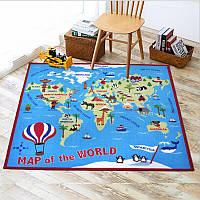 Коврик для детской комнаты Карта мира 100 х 150 см Berni, фото 1