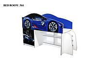Кровать чердак машинка на выбор 170*80. Кровать с рабочей зоной. Кровать двухэтажная. BMW
