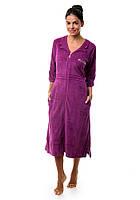 Женский велюровый халат на змейке Эсра, фото 1