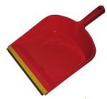 Совок для мусора с резиновой накладкой, цвет ассорти