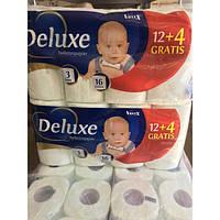 Deluxe 3-шаровая бумага туалетная 16 штук