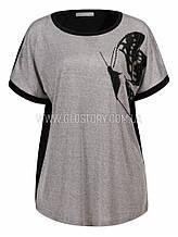 Женская футболка GLO-Story,Венгрия  Большие размеры