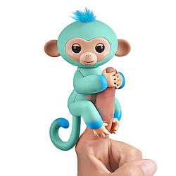 Интерактивная обезьянка Fingerlings Эдди бирюзово-голубая. Fingerlings 2Tone Monkey - Eddi (3724), 5+