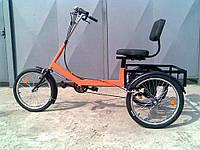 Велосипед трехколесный грузовой для инвалидов, взрослых и подростков «Атлет малый»