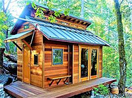 Недорогие каркасно-щитовые деревянные дома на заказ