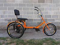 Велосипед трехколесный грузовой для людей с большим весом «Атлет с корзиной»