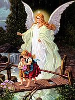 """Набор алмазной вышивки (мозаики) """"Ангел хранитель"""" (75х1000) см"""