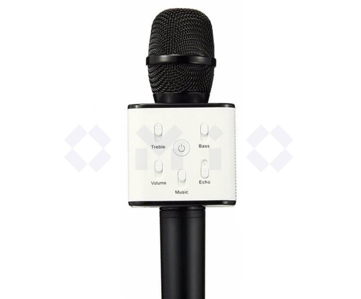 Караоке микрофон Q7 с bluetooth черный цвет (беспроводной микрофон)