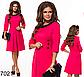 Двухцветное модное платье по колено (серый) 827019, фото 3