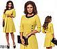 Двухцветное модное платье по колено (серый) 827019, фото 4